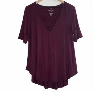 American Eagle Strappy Chest Cutout T-Shirt Tunic